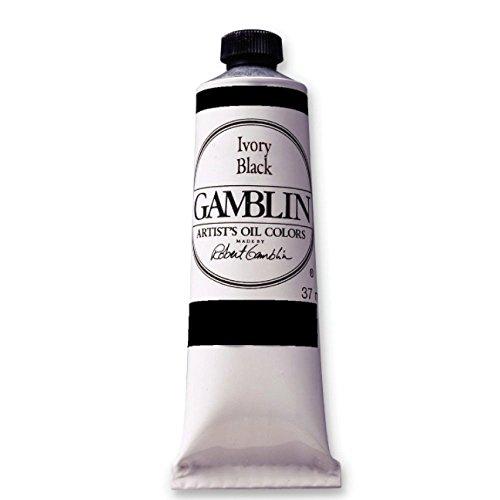 Gamblin Ivory Black Artist Oil 150Ml 5 Fl Oz