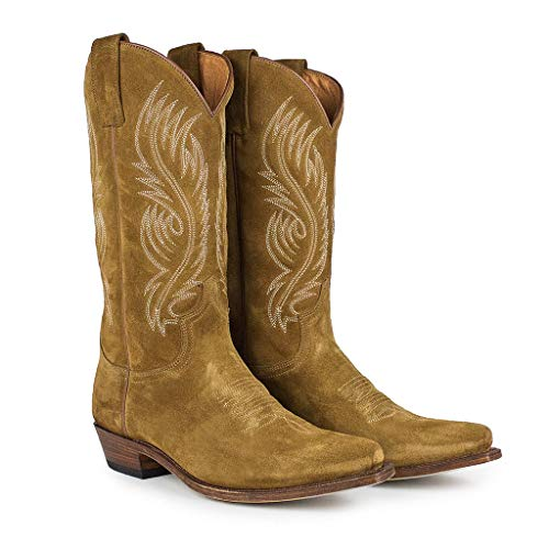 Sendra Boots Bota Western en Serraje 2605 Red Color Marrón (44 EU)