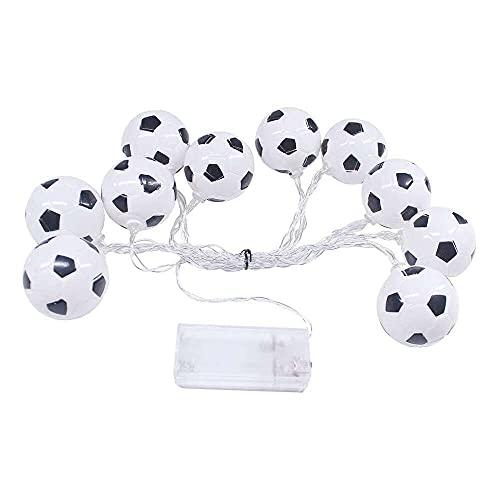 YuKeShop 10 LEDs 2.13 m Copa Mundial Fútbol LED Cadena de Luz - Blanco Cálido Lámpara LED Hogar Decoración del Hogar