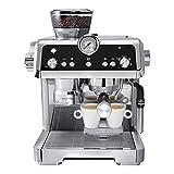 QJF Cafetera semiautomática Completa Inicio Italiano, para el Espresso Cappuccino Latte Macchiato Home Barista Barista Smart...