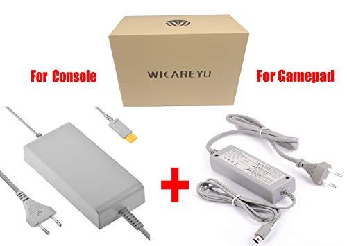 WicareYo Adaptateur chargeur mural adaptateur secteur pour Nintendo Wii U Gamepads Wii U Console