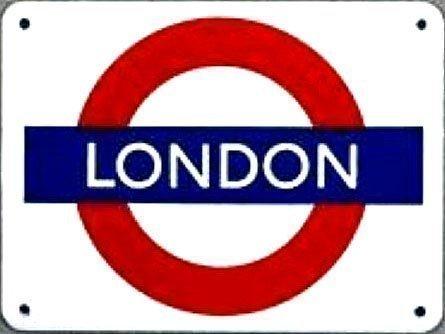 Emaille Schild Klein London Underground (Ba)