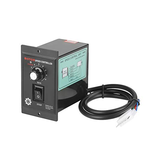 Entatial Controlador de Velocidad del Motor Velocidad 400W AC 220V Controlador regulador...