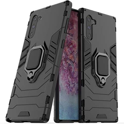 Schutzhülle für Samsung Note 10, Aulzaju Galaxy Note 10, 360 Grad drehbar, magnetisch, Standfunktion, robust, Hybrid-Armor stoßfest samsung galaxy note 10 schwarz
