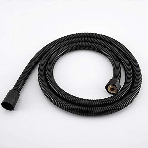Tuyau de douche en acier inoxydable noir raccords de pommeau de douche à main tuyaux accessoires de salle de bain tuyau en caoutchouc tuyau de plomberie Flexible-1M