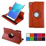 COOVY® 2.0 Cover für Huawei MediaPad M5 8.4 Rotation 360° Smart Hülle Tasche Etui Hülle Schutz Ständer Auto Sleep/Wake up | orange