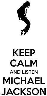VVWV Mj Keep Calm Just Listen Michael Jackson Canvas Art Posters for Wall Living Room Boys Girls Motivational Dancing Wall...