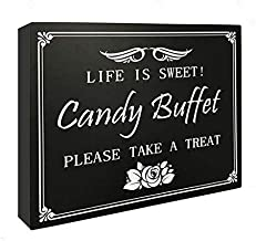 JennyGems Wood Wedding Party Sign Candy Buffet Life Is Sweet Please Take A Treat, Christmas Party, Holiday parties