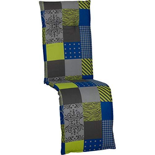 nxtbuy Auflage für Relaxliegen Barcelona 171x50x6cm - Liegenauflage mit Komfortschaumkern und Bezug - Sitzpolster für Gartenliegen, Dessin:Patchwork BYB