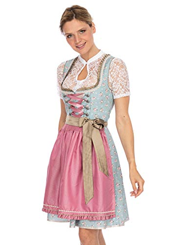 Stockerpoint Damen Berina Dirndl, Mehrfarbig (Bleu-Rosa Bleu-Rosa), (Herstellergröße: 36)