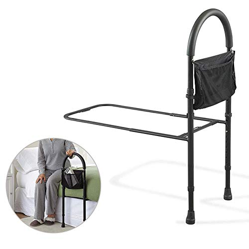 Chicti Bedrooster voor ouderen, draaggreep, leuning, in hoogte verstelbaar, helpt om in en uit bed voor senioren geduldig W