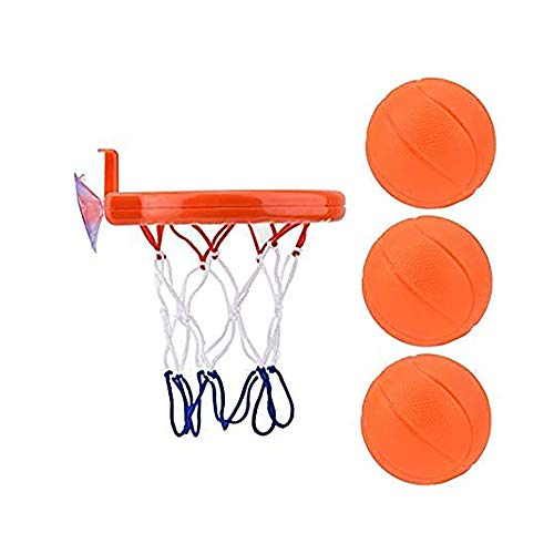 ChenJing Wasserbad Basketball, Baby Bad Spielzeug Basketball, Korb Und Ball Dusche Wasserspielzeug Schwimmbad Junge Mädchen