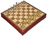 ZOUQILAI Ajedrez, Pieza de ajedrez Internacional del Metal de aleación de Zinc de ajedrez ajedrez de Almacenamiento Grande