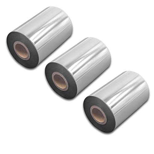 vhbw 3x wischfest Thermotransfer-Band schwarz 90mm 300m für Drucker Etikettendrucker TSC TTP-2410M, TTP-245 Plus, TTP-246M Plus, TTP-247, TTP-268M