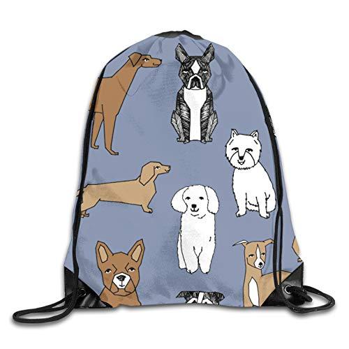 GMGMJ Happy Dogs Stonewash Blue Pets Pug Cute Pets Design - Bolsa de deporte para fitness, bolsa de viaje