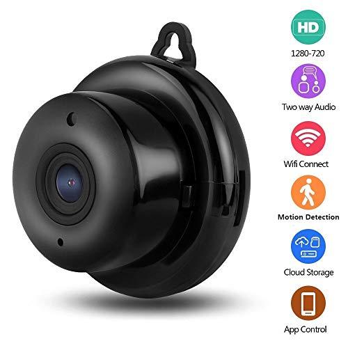 Mini draadloze verborgen spionagecamera, HD 1080P huisbeveiligingscamera's, geheime videocamera met nachtzicht Bewegingssensor Instant pushmeldingen Nanny-camera
