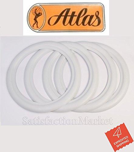 ATLAS ホワイト ,ホワイトリボン,ホワイトウォール 4枚Set (12インチ)