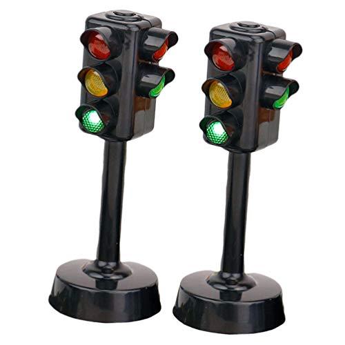 jojofuny 2Pc Juguete de semáforo, Lámpara de señal de tráfico Tráfico Divertido Juguetes Modelo Ligero