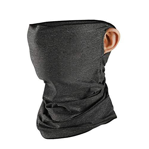 Gesichtsschutz, Ice Silk Sun, M:a:s:k, Sonnenschutz, atmungsaktiv, Halstuch, Halstuch für Radfahren, Wandern, Angeln dunkelgrau