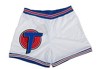 Space Jam Tune Squad White Basketball Shorts  Adult Medium