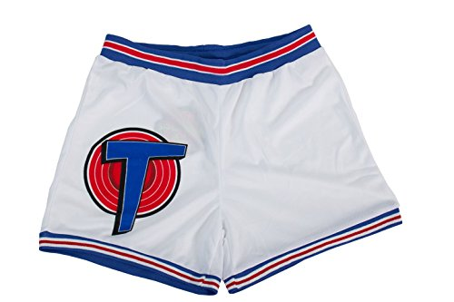 Space Jam Tune Squad White Basketball Shorts (Adult Small)