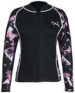 Layatone Wetsuits Top Women Men 3mm Neoprene Jacket Tops Diving Surfing Suit Rash Guard Long Sleeevs Front YKK Zipper Wet Suits Jacket Top Adults