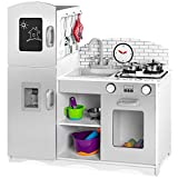 Best Choice Products Kids Pretend Play Kitchen Cook Toy Set w/ Sounds, 4 Utensils, Sink, Fridge,...