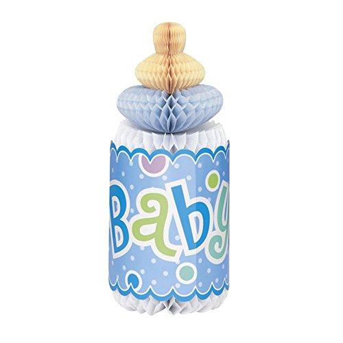 Unique Party - Biberón de papel para decoración fiesta Baby Shower (Talla Única) (Azul)