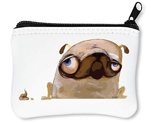 Pug His Thing | Shit | LOL | Animals Collection | Nice To | Funny | | Cool T Shirt | Popular | Swag | Yolo | Joke | Beautiful Billetera con Cremallera Monedero Caratera