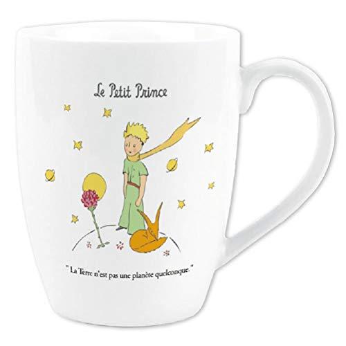 Petit Prince Coleccion Francia Vintage Taza El Principito, la Rosa y el Zorro La Tierra no es un Planeta de ningún Tipo.