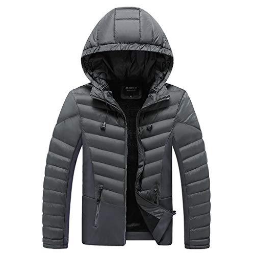 Reooly Cremallera de Invierno para Hombres Ropa Deportiva cálida Ropa de algodón Abrigo Casual de Manga Larga(I-Verde,X-Large)
