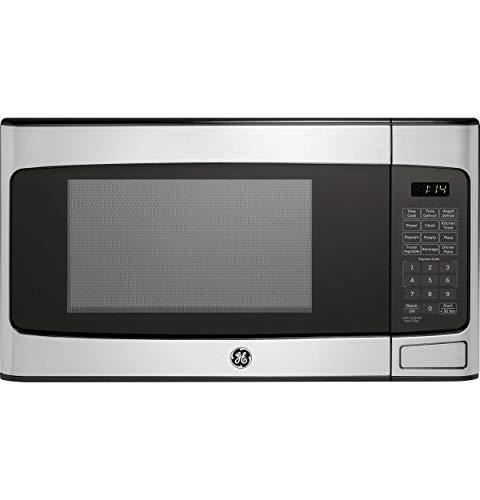 GE 1.1 Cu Ft Countertop Stainless Steel Microwave Oven JES1145SHSS (Renewed)