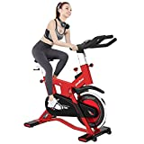 pooboo Indoor Cycling Bike, Belt Drive Exercise Bike Stationary Smooth Commercial Standard with LCD Display Bicycle Heart Pulse Trainer