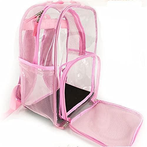 DEYUCHANG Sacchetto di Gatto Spazio Spazio Pet Bag Zaino Trasparente out out Portable Pet Zaino Traspirante Panoramic Pet Bag Bag Cat Zaino (Color : Pink)