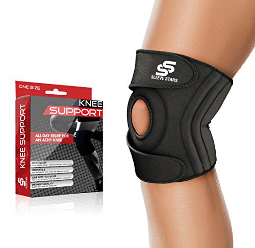 Sleeve Stars Knee Support Brace for Joint Pain Relief - Knee Brace for LCL, MCL, ACL, Arthritis, Meniscus Tear, Dislocated Kneecap; Knee Tendonitis Strap & Knee Support for Women, Men, Teen & Kids