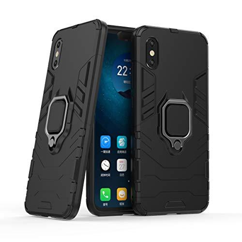 Cocomii Black Panther Ring Xiaomi Mi 8 Pro Case, Slim Thin Matte Vertical & Horizontal Kickstand Ring Grip Reinforced Drop Protection Fashion Phone Case Bumper Cover for Xiaomi Mi 8 Pro (Jet Black)