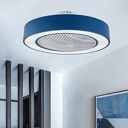 Ventilateurs De Plafond Avec Lumières Plafonnier Led 72W Lampe Ventilateur Moderne Chambre Plafonnier Ultra Dimmable Avec Télécommande Plafonnier Salon Salle À Manger Bleu