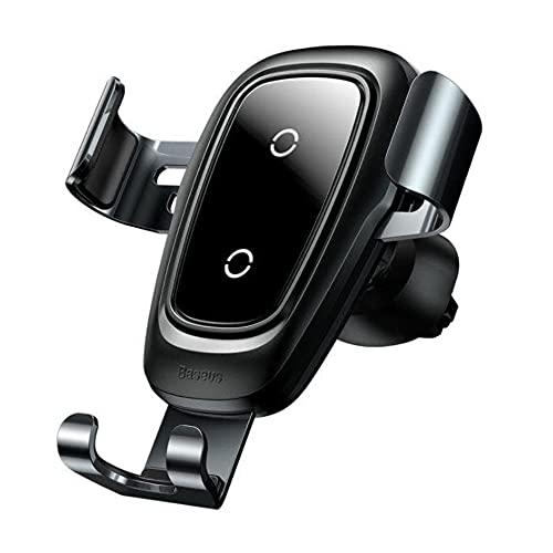 Baseus Qi Cargador Inalámbrico para Coche para iPhone X Samsung S10 S9 S8 Cargador de Teléfono Móvil para Coche Cargador Inalámbrico Rápido Soporte para Montaje en Coche