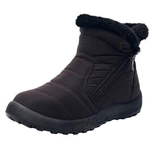 NMERWT Damen Winterschuhe Warm Gefüttert Winter Stiefel Kurz Schnür Boots Schneestiefel Outdoor Freizeit Schuhe Schneeschuhe Ankle Short Bootie Waterproof Footwear Warme Schuhe