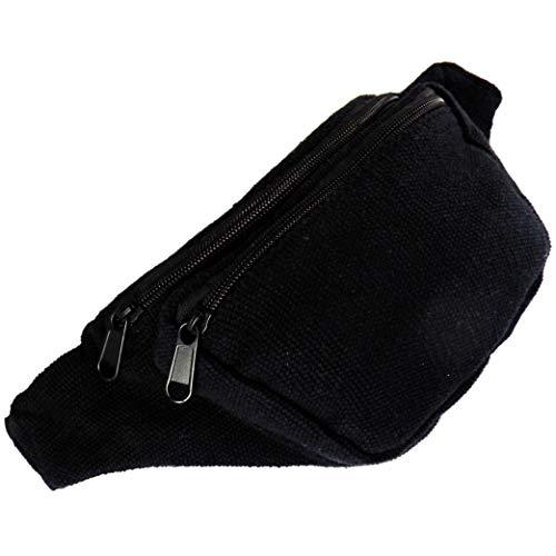 AKIBA Riñonera De Moda Bolsa De Cintura Ajustable (Negro)