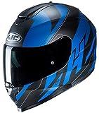 HJC NC Casco per Moto, Adultos Unisex, Negro/Azul, M