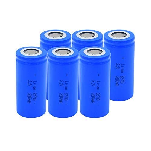 josiedf 3.2v 8000mah 32700 Lithium Li-Ion Batteries, Rechargeable Battery for Scooter Power Tool 6Pieces