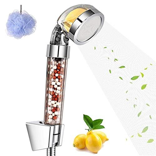 Filtro de alcachofa de ducha de iones de vitamina C, filtro de ducha de alta presión, filtro mineral con descalcificador de agua dura, sistema de ducha universal