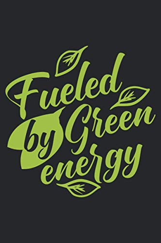 Fueled by green energy: Graph Paper Vegan Fitness Journal | A daily food and exercise journal for he