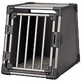 TRIXIE Box de Transport Aluminium pour Chien Gris Graphite 55 x 61 x 74 cm/Taille M