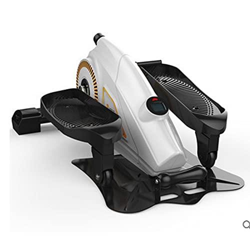 YourBooy Máquina De Ejercicio Elíptica para Debajo del Escritorio Ejercitador De Pedal, para Entrenamiento En Casa Ejercitador Compacto con Monitor De Pantalla Incorporado, Resistencia Ajustable
