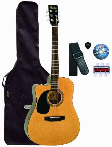 Encore LH-CEA255OFT elektro-akoestische gitaar voor linkshandigen (incl. accessoires en leerprogramma) (import uit het Verenigd Koninkrijk)