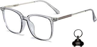 LGQ Lunettes à lentilles claires, Lunettes de Blocage de la lumière Bleue pour Les maux de tête et la Fatigue oculaire, Ac...