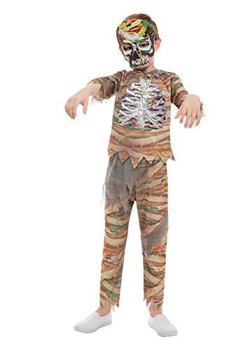 Smiffys 51073S Zombie - Disfraz de momia para niños (talla S, 4-6 años), color crema