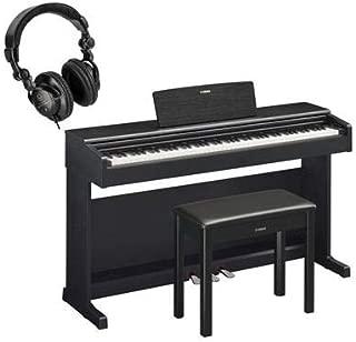 $1099 » Yamaha Arius YDP-144 88-Key Traditional Console Digital Piano with Bench & PA150 AC Power Adapter, Black Walnut - H&A Closed Back Studio Headphones